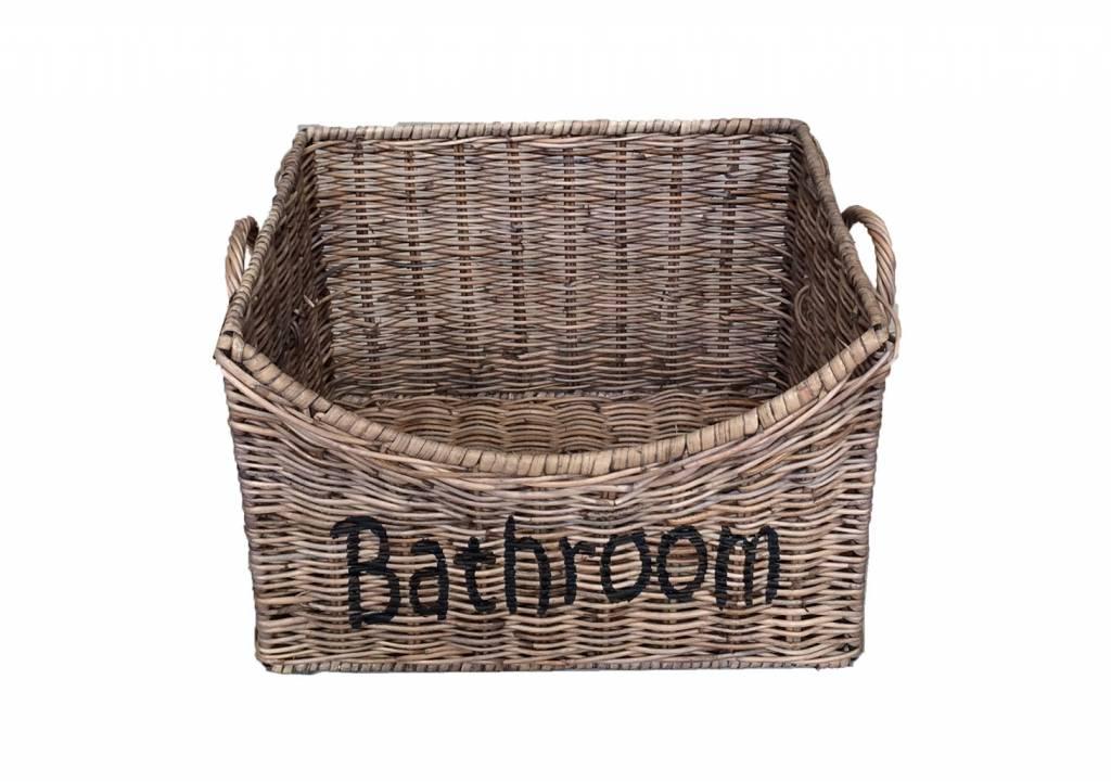 Badkamer riet mand m echt een sfeer maker van - Badkamer in m ...