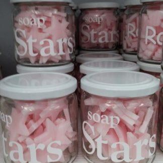 Potje zeep sterren roze