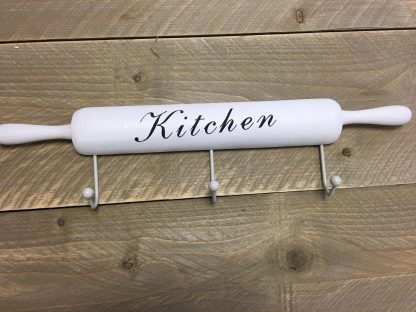 Omschrijving 3 haaks Rolling pin wit - 50x11x5