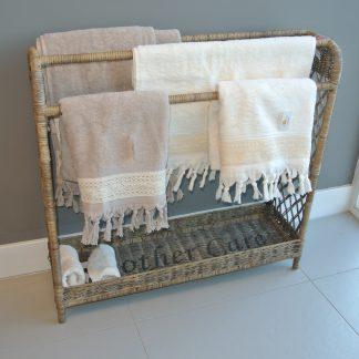 Handdoek rek riet