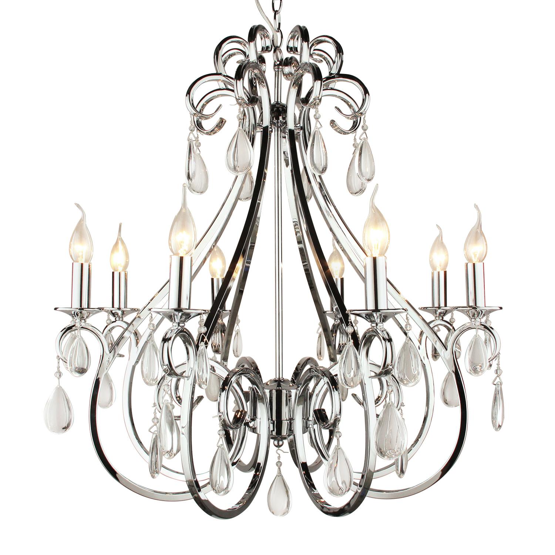 Hanglamp kristal nikkel 8 lampen decoshoppen prachtige for Collectione lampen