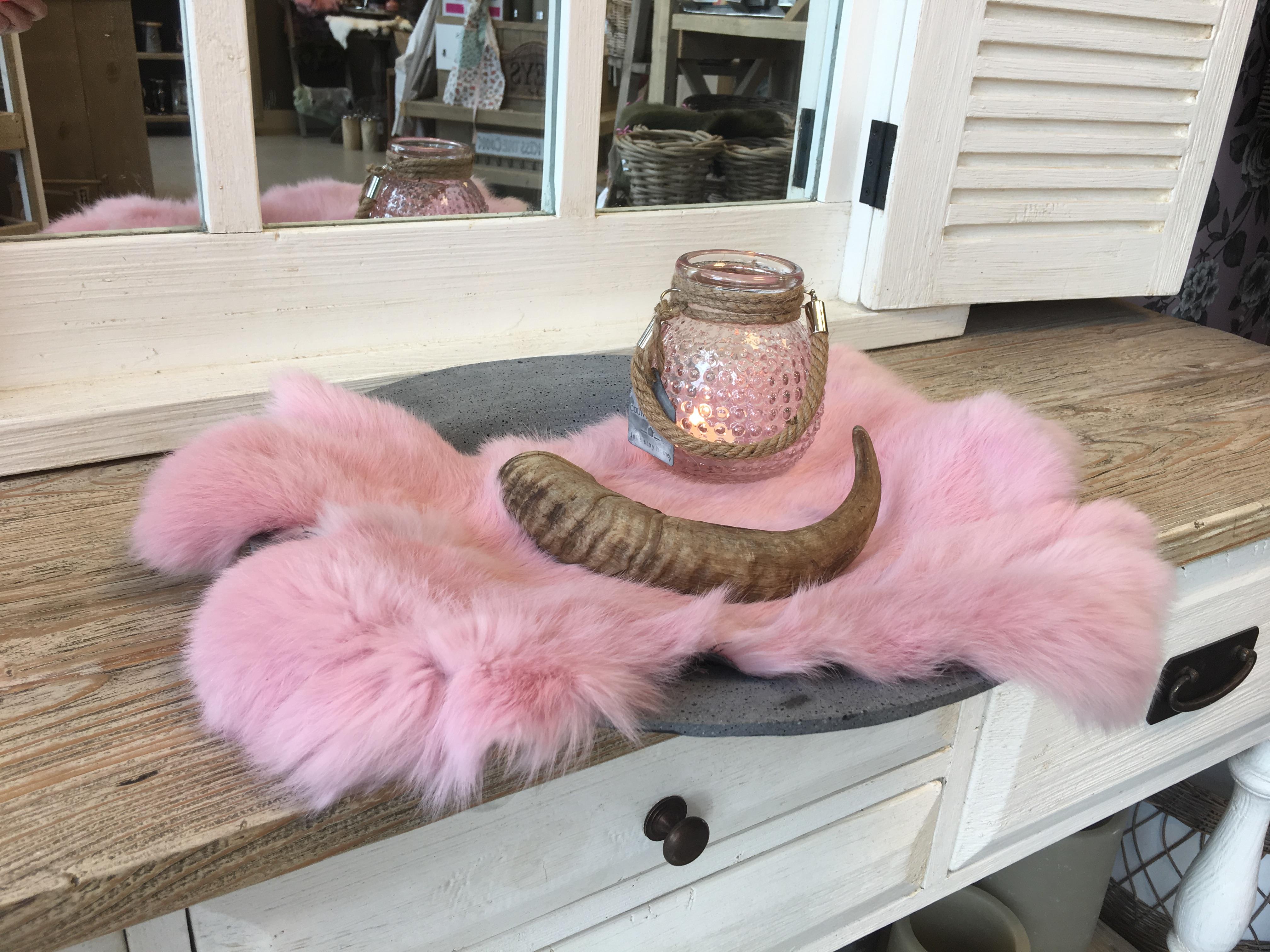 Konijnenvacht roze - Decoshoppen bij ons vind u roze ...