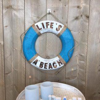 Boei Life's A Beach blauw