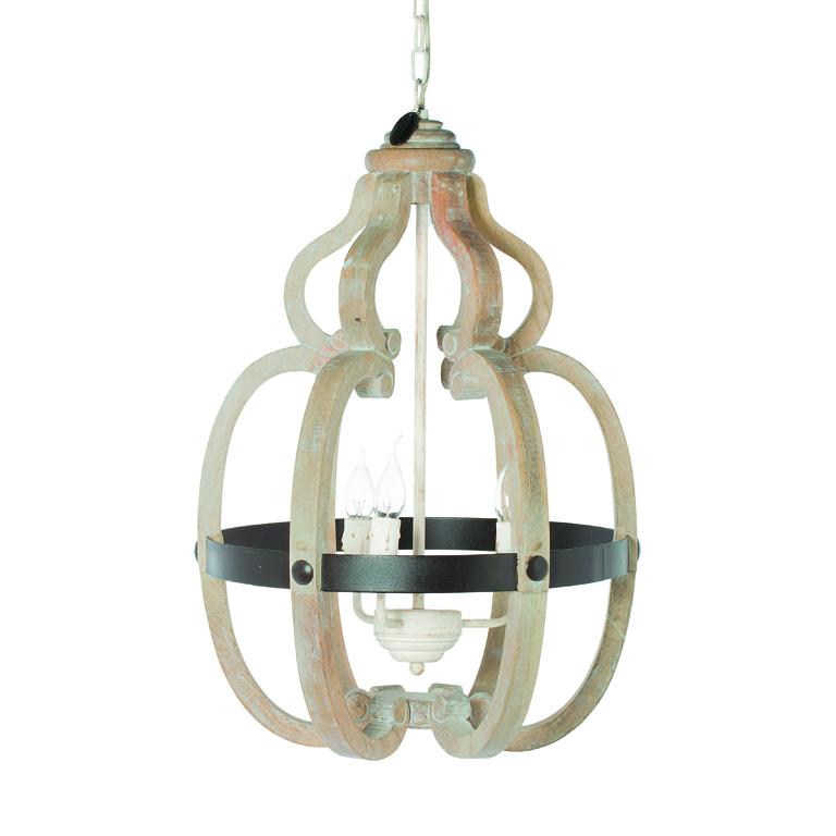 Riverdale Hanglamp Vintage.Hanglamp Riom Naturel 68cm