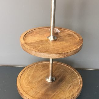 Etagere nikkel hout 50cm