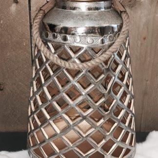 Lantaarn zilver goud 38CM