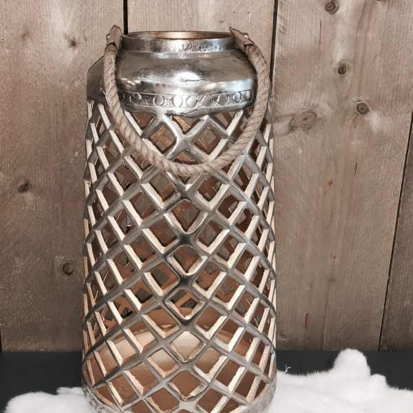 Lantaarn zilver goud 49 cm