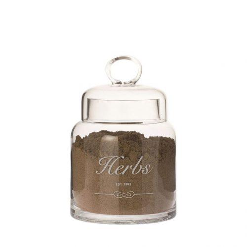 Voorraadpot glas Herbs