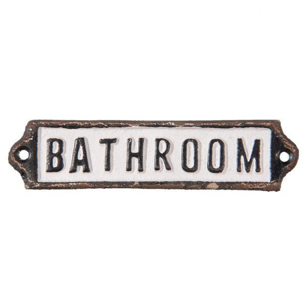 Deur tekst Bathroom