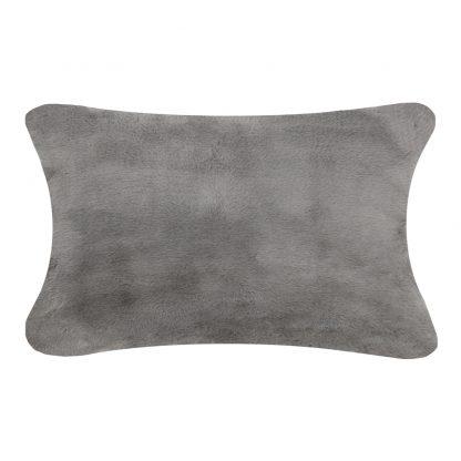 Kussen bont donker grijs