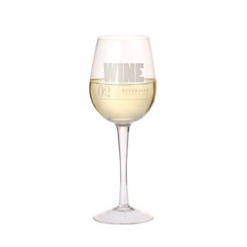 Witte wijnglas Numbers 22cm