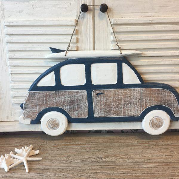 VW Auto Hout Blauw
