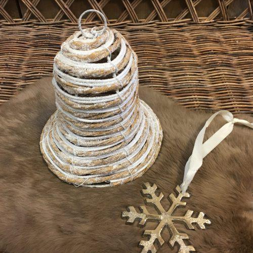 Kerstklok glitter 17 cm