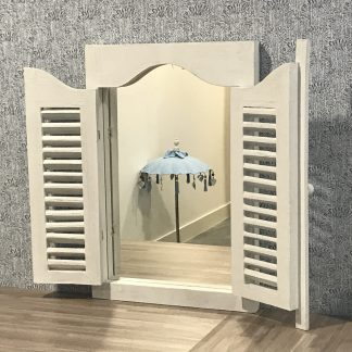Spiegel louvre deurtjes
