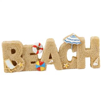 Vrolijk zomers woord BEACH