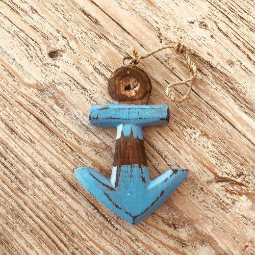 Anker houtlook blauw