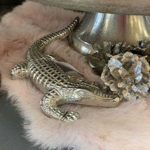 Krokodil Zilver