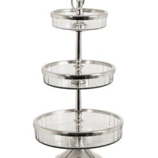 Etagere nikkel-glas