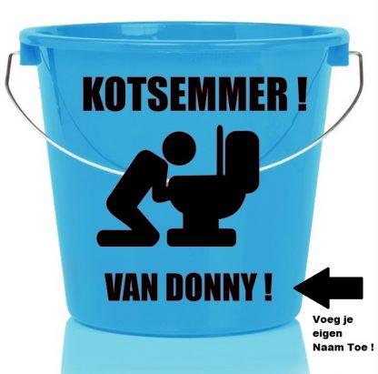 Kots Emmer met Naam Man