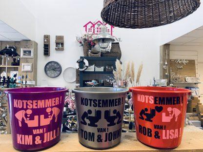 Duo Kots Emmer met Naam