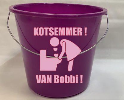 Kots Emmer met Naam Paars