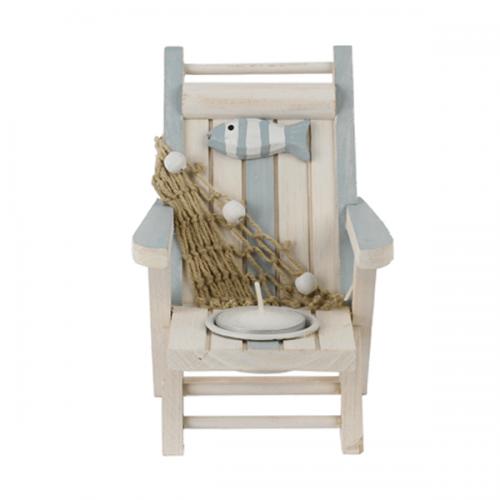 Strandstoel met waxine