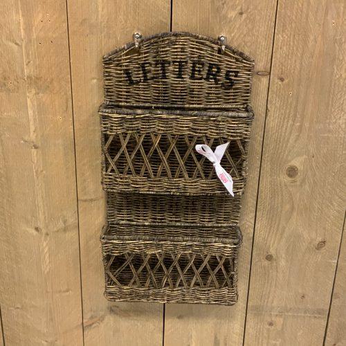 Rieten Letters Houder