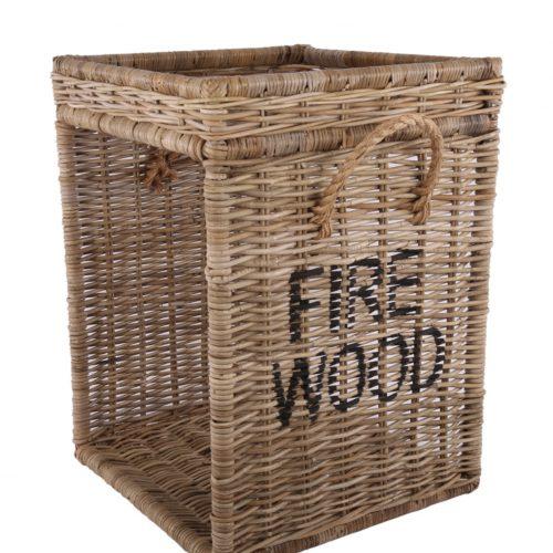 Rieten houtmand fire wood