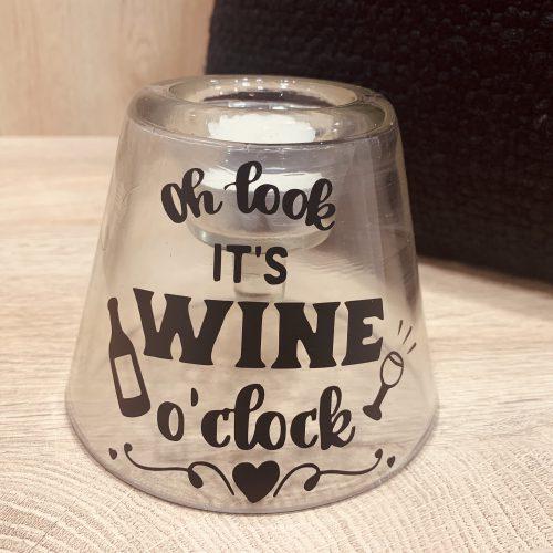 Fles Theelicht houder Wine
