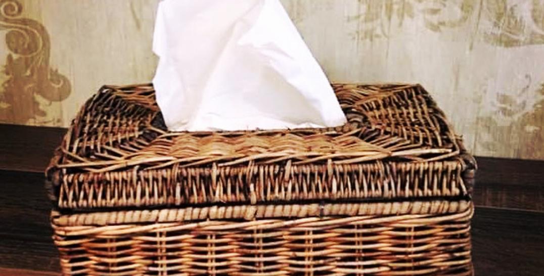 Rieten Tissue Box