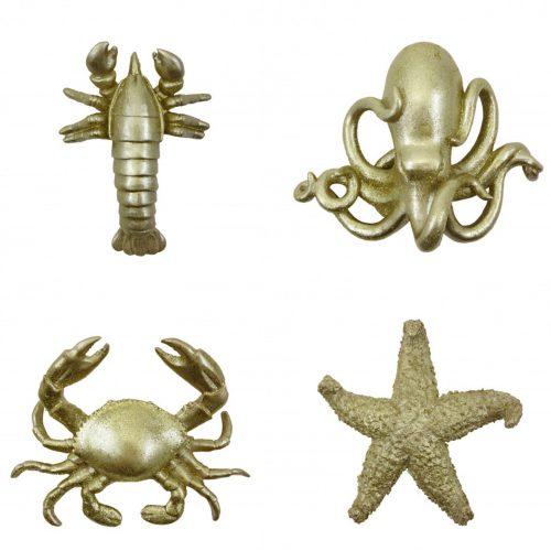 Zeedieren set van 4