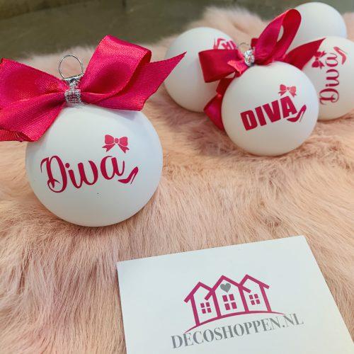 Kerstbal Diva sierlijk