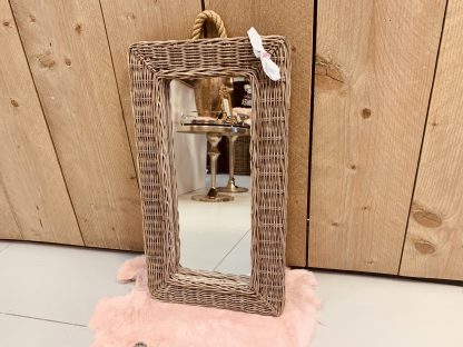 Rieten Spiegel Rechthoek 53cm