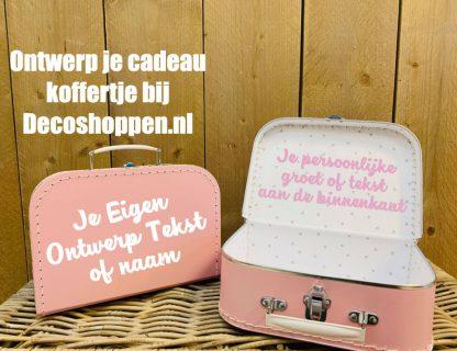 Koffer Roze eigen tekst
