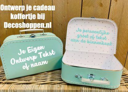 Koffer Mint eigen tekst