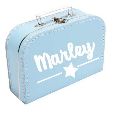 Koffer Eigen Tekst blauw