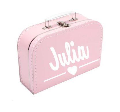 Koffer Eigen Tekst roze