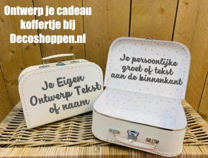 Koffer Eigen Tekst Wit