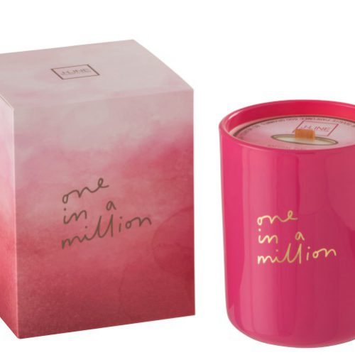 Geurkaars Million Roze 80u