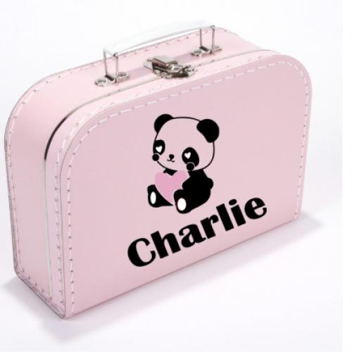 Koffer Panda Roze