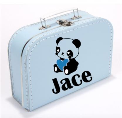 Koffer Panda Blauw