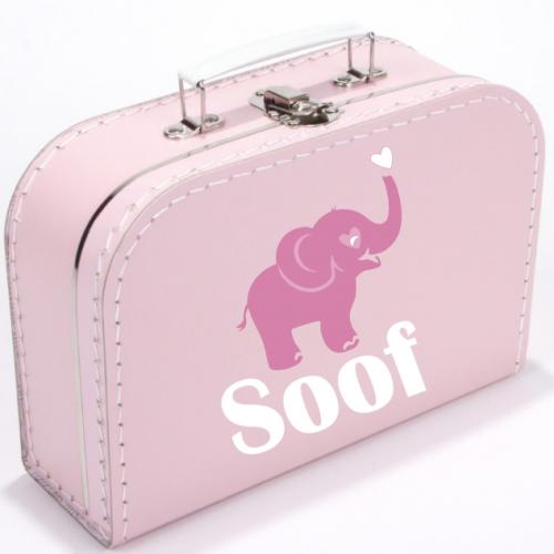 Koffer Olifantje Roze