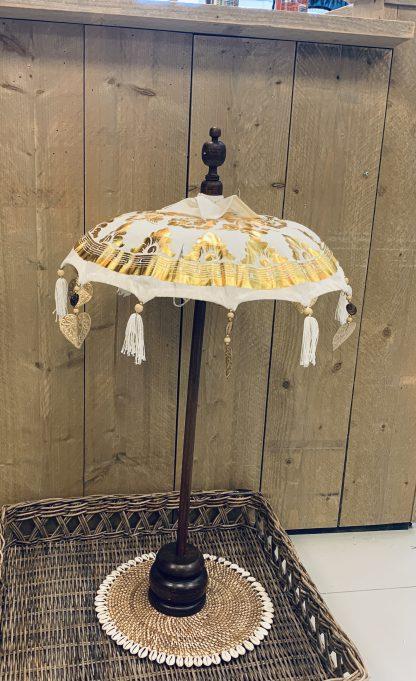 Tafel Parasol Wit Goud