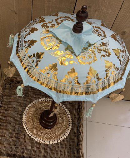 Tafel Parasol Blauw Goud