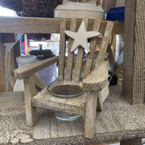 Strandstoel waxine hout