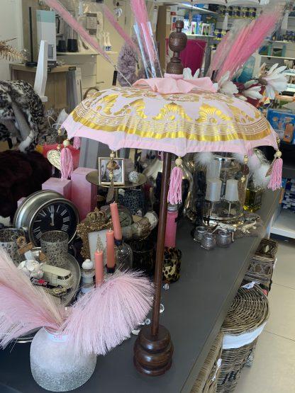 Tafel Parasol Roze Goud